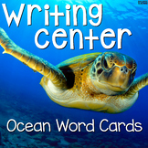 Writing Center Word Cards: Ocean