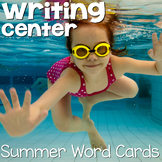 Writing Center Word Cards: Summer
