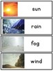 Writing Center Word Cards: Weather