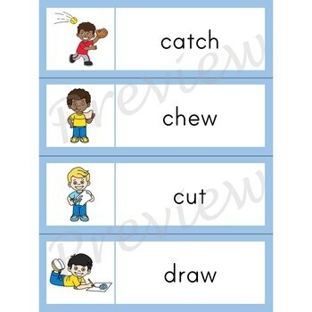 Writing Center Word List ~ Action Words