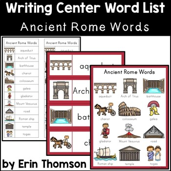 Writing Center Word List ~ Ancient Rome Words