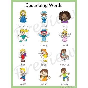Writing Center Word List ~ Describing Words