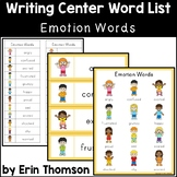 Writing Center Word List ~ Emotion Words