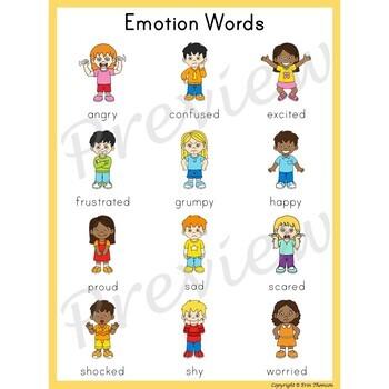 Writing Center Word List ~ Emotion Words