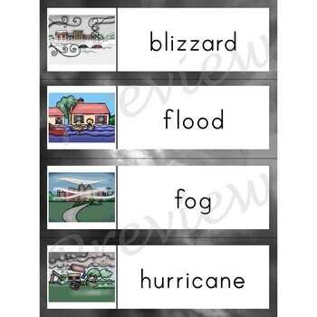 Writing Center Word List ~ Extreme Weather Words