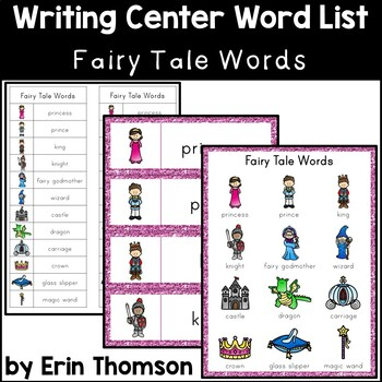 writing center word list fairy tale words tpt. Black Bedroom Furniture Sets. Home Design Ideas
