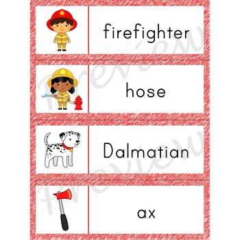 Writing Center Word List ~ Firefighter Words