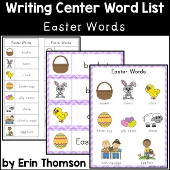Writing Center Word List ~ Holiday Words {Easter}