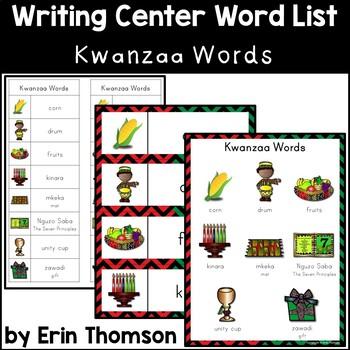 Writing Center Word List ~ Holiday Words {Kwanzaa}
