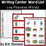 Writing Center Word List ~ Holiday Words {Las Posadas}