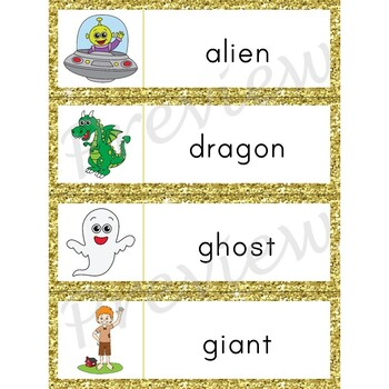 Writing Center Word List ~ Make-Believe Words
