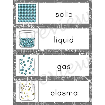 Writing Center Word List ~ Physical Science Words