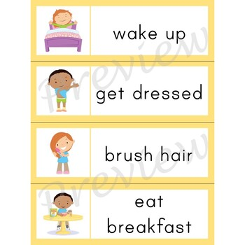 Writing Center Word List ~ Routine Words