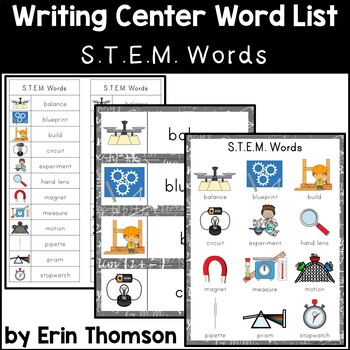 Writing Center Word List ~ S.T.E.M. Words