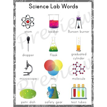 Writing Center Word List ~ Science Lab Words