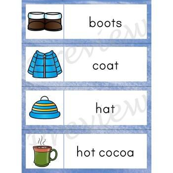 Writing Center Word List ~ Season Words {Winter}