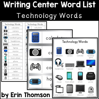 Writing Center Word List ~ Technology Words