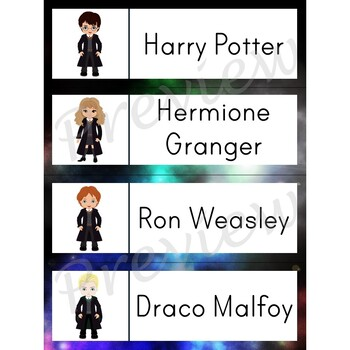 Writing Center Word List ~ Harry Potter Words