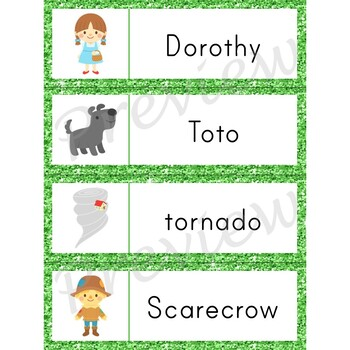 Writing Center Word List ~ Wizard of Oz Words