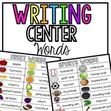 Writing Center Words/ Word Cards