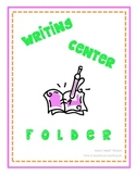 Writing Center Monthly Writing Prompts Folder