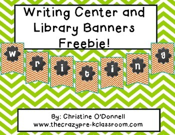 Writing Center and Library Banners FREE!!!!