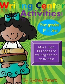 Writing Center and Literacy Center Worksheet! Over 100 pages!