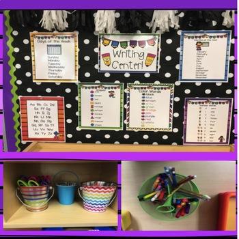 Writing Center for Preschool, Pre-K, TK and Kindergarten