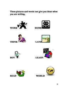 Writing System for Centers or Individual Student Use Primary Level