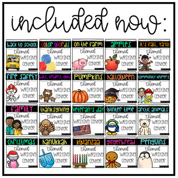 Themed Writing Center Activities for the Year