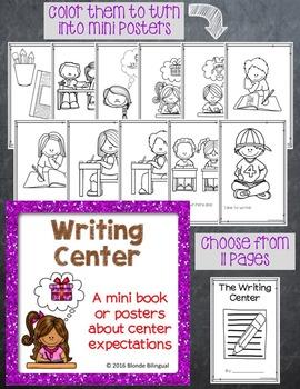 Writing Center mini book