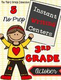 October Writing Centers (3rd Grade)