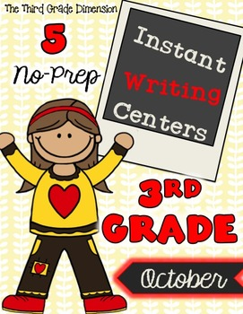 October Writing Centers (3rd Grade)