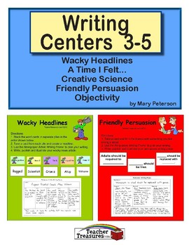 Writing Centers 3-5