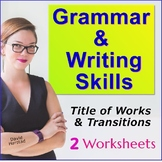 Writing Centers Worksheets