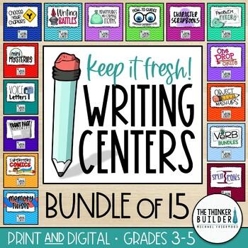 Writing Centers BIG BUNDLE: Keep It Fresh! {All Four Packs}