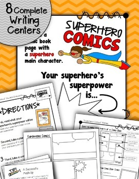 Writing Centers BUNDLE: Keep It Fresh! {Pack #3 and Pack #4}