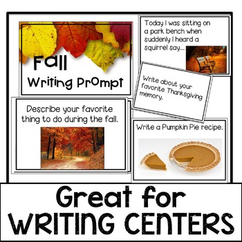 Fall Writing Prompts~ Great for Writing Centers