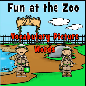 Writing Centers: Fun at the Zoo Picture Vocabulary Words
