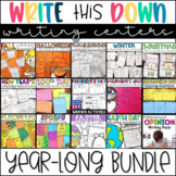 Writing Center Activities- Year Long Bundle of Writing Pra