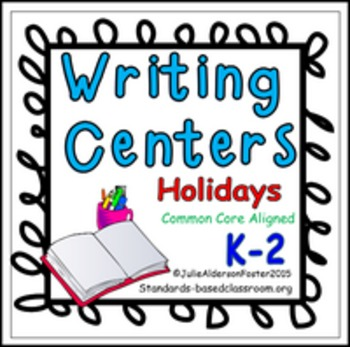 Writing Centers for Holidays