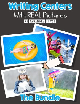 Writing Centers with REAL Pictures Bundle
