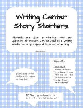 Writing Centre / Story Starters