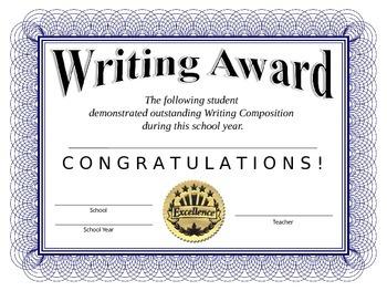 Writing Certificate