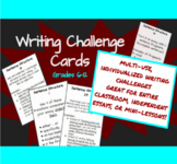 Writing Challenge Cards: Sentence Structure Cards 1-10