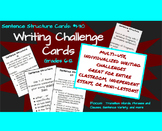 Writing Challenge Cards: Sentence Structure Cards 1-30