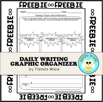 Writing Challenge Graphic Organizer Freebie