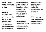 Writing Challenges for Junior Students