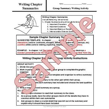 Writing Chapter Summaries