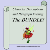 Writing Character Descriptions and Paragraphs Printables: